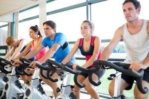 cycling at gym