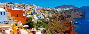 Santorini traveling