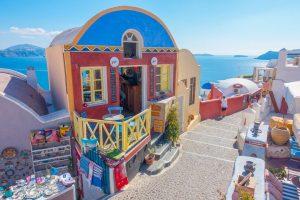 santorini greece streets